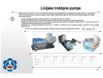 Linijske troklipne pumpe