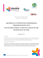 akcijski plan učinkovitog gospodarenja energijom općine ston