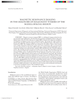 magnetic resonance imaging in the diagnosis of malignant tumors of