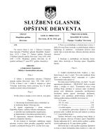 """""""Službeni glasnik opštine Derventa"""", broj : 10/12"""