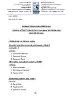 raspored polaganja maturskih ispita za učenike iv razreda u