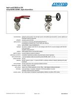 leptir ventil DN50 do 250 serije BUW9, BUWH, duplo ekcentrično