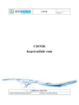CJENIK Koprivničkih voda