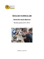 ŠKOLSKI KURIKULUM.pdf - Obrtnička škola Bjelovar