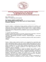 Komora doktora medicine RS - Predmet: Zapisnik