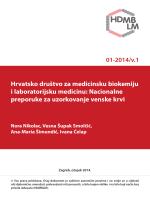 Nacionalne preporuke za uzorkovanje venske krvi