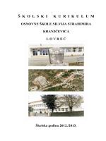 Školski kurikulum 2012. / 2013. - PDF