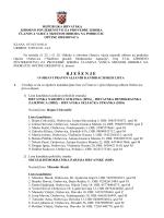 Rjesenje o objavi pravovaljanih kandidacijskih lista