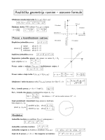 Analiticka geometrija ravnine – osnovne formule