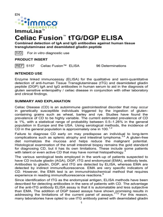 Celiac Fusion™ tTG/DGP ELISA