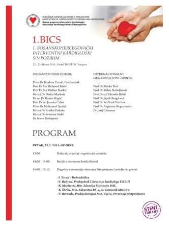 1. BICS - Udruženje Kardiologa u Bosni i Hercegovini