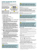 Cisco PDS3121 Set-Top Safety Sheet (Croatian)