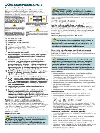 Cisco PDS3121 Set-Top Safety Sheet (Croatian)