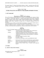 PRAVILNIK PDS - Ekonomski Fakultet