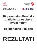 16. prvenstvo Hrvatske u atletici za osobe s invaliditetom