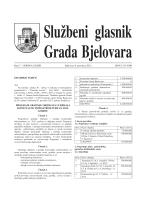 Službeni glasnik Grada Bjelovara br. 7/2012
