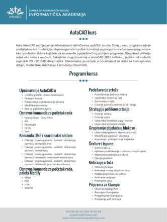 AutoCAD kurs Program kursa