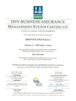 ISO 14001 2004 Certifikat 2013