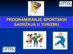 programiranje sportskih sadržaja u turizmu