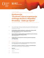 program konferencija drustveni utjecaj