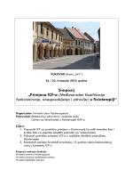 Program - Hrvatski zbor fizioterapeuta