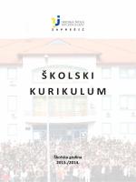ŠKOLSKI KURIKULUM - Srednja škola Ban Josip Jelačić
