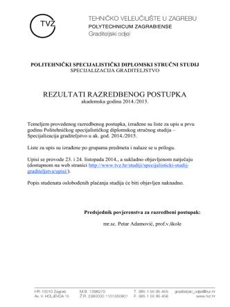(liste za upis na specijalisti\350ki 2014-2015.xlsx)