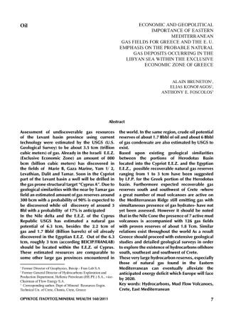 Alain Bruneton, Elias Konofagos, Anthony E. Foscolos, Economic