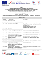 Program konferencije - ME4CataLOgue