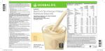 Θρεπτικό Πρωτεϊνούχο Ρόφημα Nutritional Shake Mix