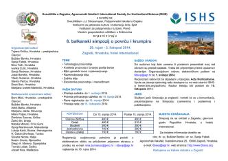 6. balkanski simpozij o povrću i krumpiru