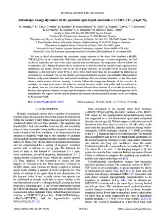 (BEDT-TTF)2Cu2(CN)3 - Marko Pinteric data