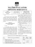 """""""Službeni glasnik opštine Derventa"""", broj: 3/11"""