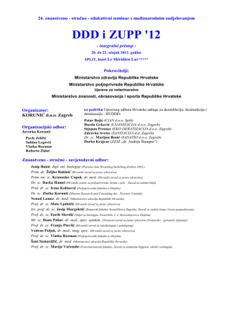 1. DDD i ZUPP `12 - Program seminara
