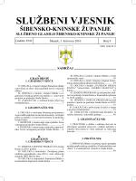 SLUŽBENI VJESNIK - Šibensko