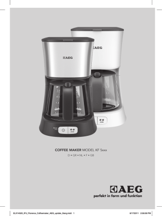 COFFEE MAKER MODEL KF 5xxx