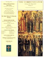T H E   C O M M U N I C A T O R - holy trinity greek orthodox church