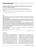 Studies on in vitro hemolysis and utility of corrective formulas for