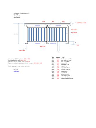 BALKONSKA OGRADA MODEL V1 SCP d.o.o. Bišće polje bb 88