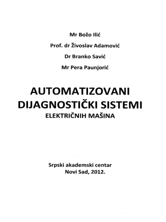 Automatizovani dijagnostiki sistemi elektrinih maina