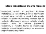 Model jednostavne linearne regresije - T-com