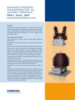 naponski epoksidni transformatori za vanjsku ugradnju vpv1, vla1, vpv