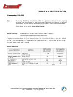 TEHNIČKA SPECIFIKACIJA Freezestop 100 G11 - hifa