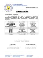 ΑΝΑΚΟΙΝΩΣΗ - συλλογος εργαζομενων νεου ττ