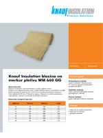 Knauf Insulation blazina na merkur pletivu WM 660 GG