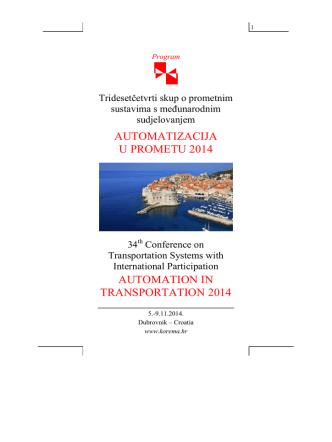 Automatizacija u prometu 2014 - hrvatska komora inženjera