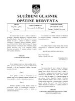 Službeni glasnik opštine Derventa, broj: 4/14