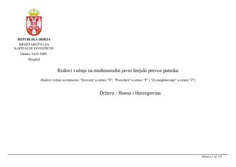 BIH - Prevoz Putnika.rs