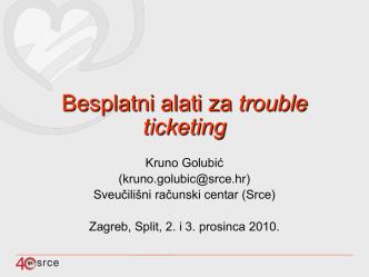 Besplatni alati za trouble ticketing