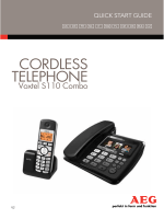 CORDLESS TELEPHONE - Link to AEG